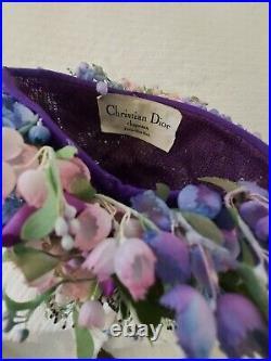 Christian DIOR vintage women's hat in stylish box