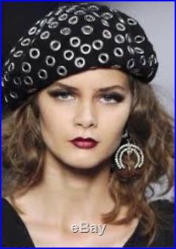 Christian Dior Black Hat Felt Beret
