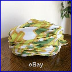 Christian Dior Chapeaux Designer Silk Vintage Turban Hat Yellow Green Gold