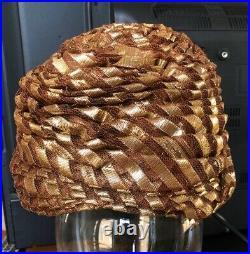 Christian Dior Chapeaux New York Vintage Ladies Turban Hat