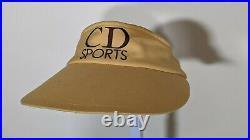 Christian Dior Sport Vintage Logo Yellow Visor Hat Beach