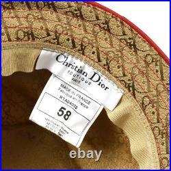 Christian Dior Trotter Hat Beige #58 Cotton France Vintage Rasta AK36819i