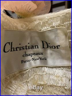 Christian Dior Vintage 1950s/1960s Ivory Turban Hat
