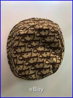 Christian Dior Vintage Monogram Logo Bucket Hat Brown