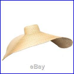 Classy Look Exaggeration Large 40cm Wide Brim Wheat Straw Hat Handicraft1 Meter