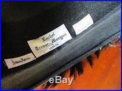 Couture Rachel Trevor-Morgan Neiman Marcus Plume Covered Hat Derby Church Englan
