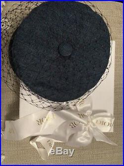 Dior Veil Denim Hat RRP £540 Size 56