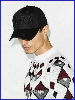 Dsquared2 Icon Logo Black Hat Baseball Cap Embroidered Vintage Cappy Unisex New