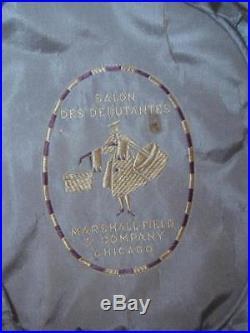 EXQUISITE 1918 1920s Ivory Silk Cloche Hat w Soutache, Huge Bow Wedding Hat LRG