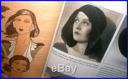Early 1931 LILLY DACHE Art Deco Split Halo Hat Draped Black Felt Cusper Style