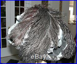 Edwardian Hat by Tenne Design Art Nouveau Ornate Black & Blue Silk Cording