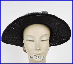 Edwardian Teen Unusual Straw Woven Hat W Lace & Berry Cluster Trims Mint Cond