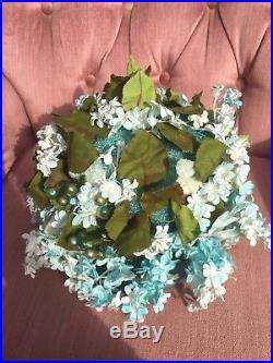 Elegant Vintage 50s Miss Dior CHRISTIAN DIOR Floral Millinery Hat