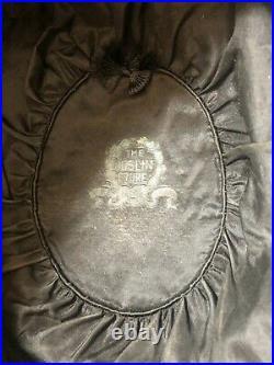 Extremely Rare Ladies Edwardian Felt & Damask Hat Titanic Era Original, 1920s