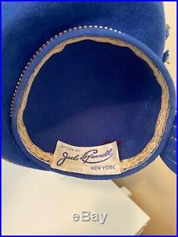 Fabulous Blue Jack McConnell Boutique Dress Hat