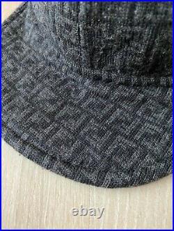 Fendi Rare Vintage FF Monogram Zucca Print Unisex Wool Cap Hat Size ONE SIZE