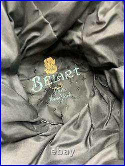 Flapper 1920s Belart Paris New York Black Silk Cloche Hat Wide Brim Soutache