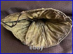 French Antique Ladies traditional Bonnet Gold embroidery Cannetille, sequins