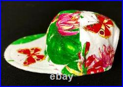GIANNI VERSACE terry cotton cap Butterfly Ladybug Floral print size M from 1995