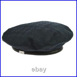 GUCCI GG Pattern Hunting Hat Cap Black #S Vintage Italy Authentic AK38456g
