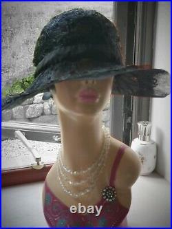 Genuine 1920s Black Cloche