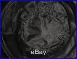Gorgeous 1912 Edwardian Cream Ostrich Plumes Hat w Deep Crown Black HH & Ribbons
