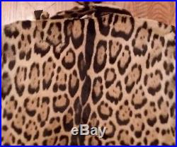 Gorgeous Womens Vintage Real Leopard Fur Cape With Matching Hat Lined
