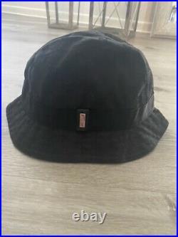 Gucci GG Vintage black bucket hat Size M. EUC