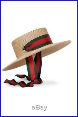 Gucci Grosgrain Raffia Hat