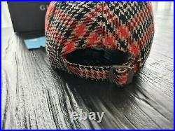 Gucci Men's NY Yankees Red black Plaid Cap, Size 57-61cm very rare