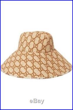 Gucci Watersnake Raffia Hat