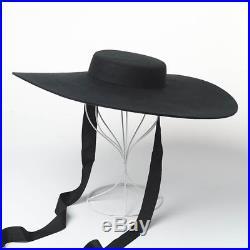 Hat Brim Wide Women Vintage Wool Autumn Winter High Fashion Ribbon Ties 2018/19