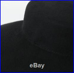 Hat Wide Brim Audrey Hepburn Fedoras Breakfast At Tiffany Elegant Wool Black