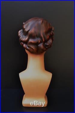 Head From Dummy Woman Vintage For Helmet Hat Or Wig