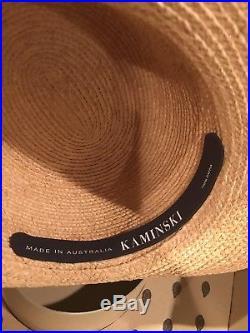 Helen Kaminski Australia 16 Avalon Natural Raffia Hat with Box