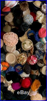 Huge Fabulous lot 179 Vintage 40's 50s 60s Ladies HATS Wholesale 4 vintage Store