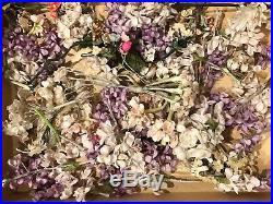 Huge Lot 100's of Vintage Millinery Flowers, Leaves, Berries, etc. 1930's-50's