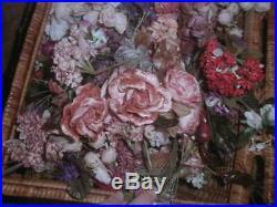 Huge Lot Vintage Millinery Flowers Velvet Roses Pansies Hat Trim 1000+ Assorted