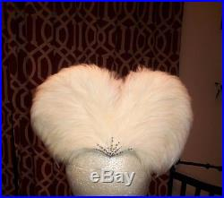 Jack McConnell Vintage Hat, Ivory, white Feather Rhinestone. FLAPPER STYLE