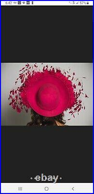 Jack McConnell styleGorgeous Fuchsia pink George Zamaul Features, Dress Hat