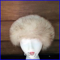 Jacobson's Miss Alice Genuine Fur Cossack Ushanka Style Hat Russian Silver