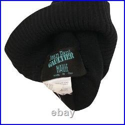 Jean Paul Gaultier Hat Black Horned Fall 1993 Maille Wool