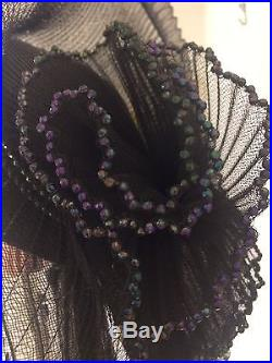 Kentucky Derby Vtg Pinup Drag Queen Burlesque Stage Church Showgirl Hat Designer