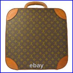 LOUIS VUITTON TRUNK HAND BAG HAT CASE MONOGRAM LEATHER VINTAGE AUTHENTIC A43865c