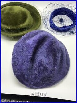 Ladies Women's Vintage Hats Lot of 12 Furs Feathers Lace Velvet + Various Styles