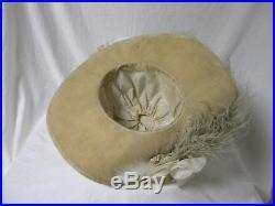 Large Antique Edwardian Titanic 1912 Hat