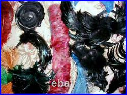 Large Lot Antique Edwardian Plumes Feathers Ostrich Coque Millinery Flowers