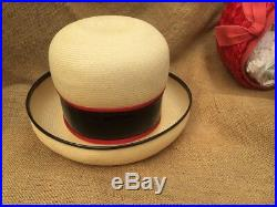 Lot 10 Vintage Ladies Hats Straw Wide Brims Netting Ladies Who Lunch Hats