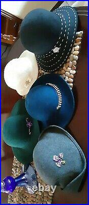 Lot Of 38 Vintage Hats 1950's-60's Stylish WOMANS Winter fall hat LOT