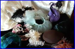 Lot of 9 Vintage Fascintor/Hats